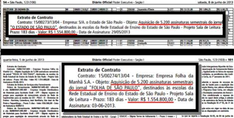 contrato Alckmin x Globo