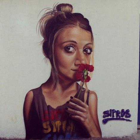 Arte final do grafiteiro Sipros