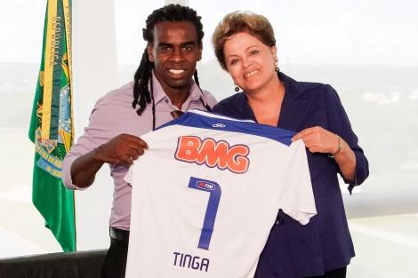 Tinga e Dilma - Roberto Stuckert Filho: PR