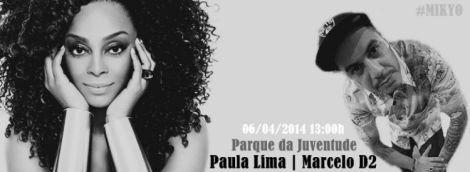 Paula Lima e d2 - divulgação