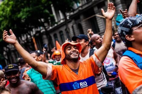 Garis entraram em greve no Rio de Janeiro em pleno Carnaval (Foto: Mídia Ninja)