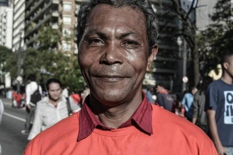 Integrante do MTST em acampamento na Câmara Municipal de São Paulo (Foto: Carolina Piai)