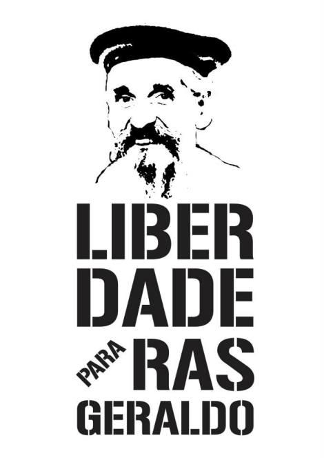 """Cartaz da campanha """"O uso é sagrado! Libertem Ras Geraldo"""" (Foto: Divulgação)"""