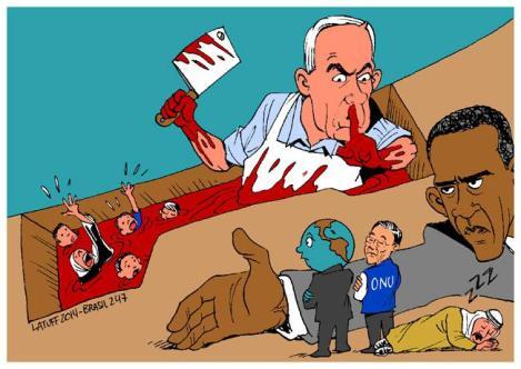 (Charge: Carlos Latuff)