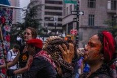 A Marcha reuniu diferentes culturas e manifestações pelas mudanças climáticas. (Foto: Thiago Gabriel)