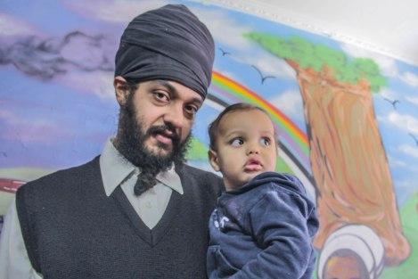 MutaMan com seu filho Bernardo (Foto: João Miranda)